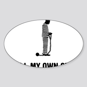 Inmate-03-A Sticker (Oval)