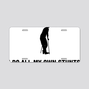 On-Crutches-03-A Aluminum License Plate