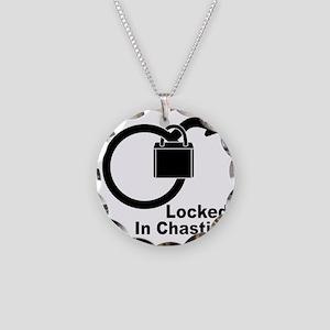 Locked Necklace Circle Charm