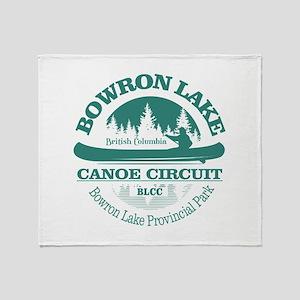 Bowron Lake Canoe Circuit Throw Blanket