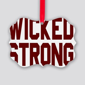 Wicked Strong Boston Picture Ornament