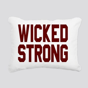 Wicked Strong Boston Rectangular Canvas Pillow