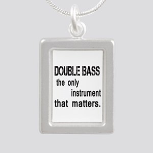 Double Bass the only ins Silver Portrait Necklace
