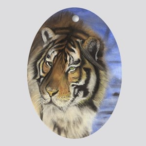 Daddys Tiger Oval Ornament