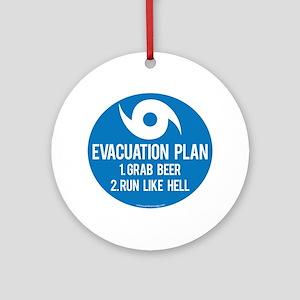 Hurricane Evacuation Plan Round Ornament
