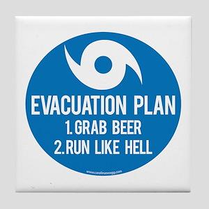 Hurricane Evacuation Plan Tile Coaster