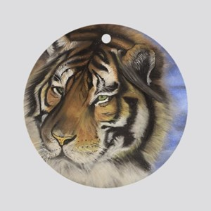 Daddys Tiger Round Ornament