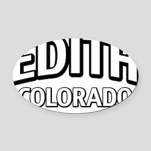 Edith Colorado Oval Car Magnet