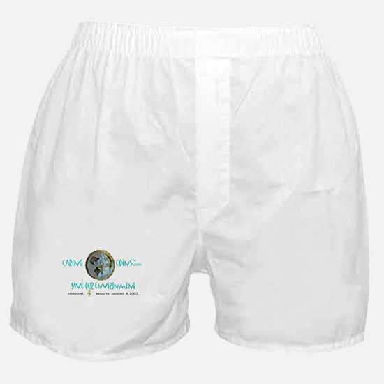 Caring CoinsT Save The Enviro Boxer Shorts