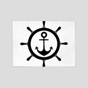 Wheel and Anchor 5'x7'Area Rug