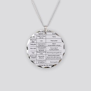 Baby instruction manual Necklace Circle Charm