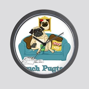 Couch Pugtato Wall Clock