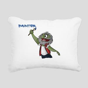The Painter Rectangular Canvas Pillow