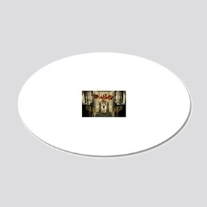 reading Lair 20x12 Oval Wall Decal