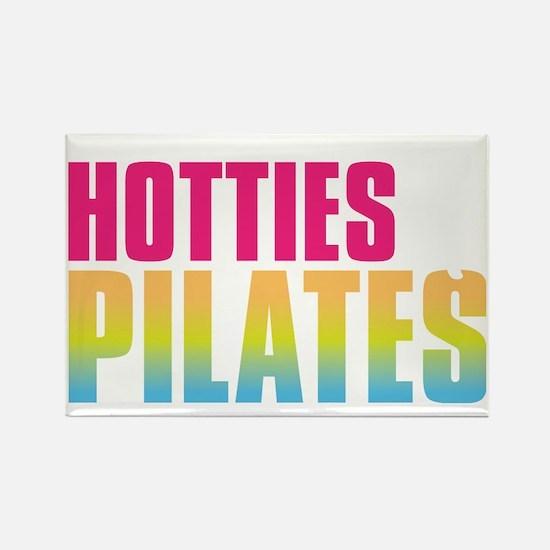 Hotties for Pillates - PinkWhiteG Rectangle Magnet