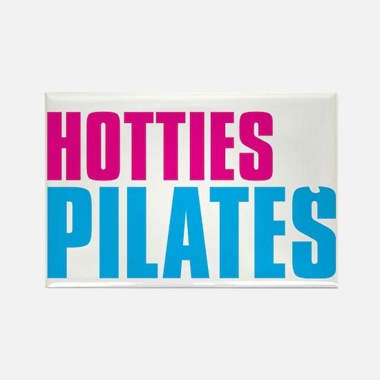 Hotties for Pillates - PinkWhiteC Rectangle Magnet