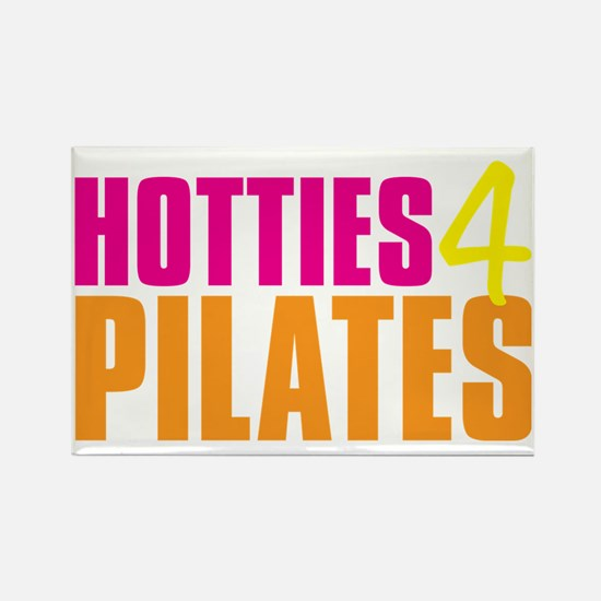 Hotties for Pillates - PinkYellow Rectangle Magnet
