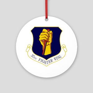 35th FW Round Ornament