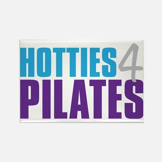 Hotties for Pillates - CyanGreyPu Rectangle Magnet