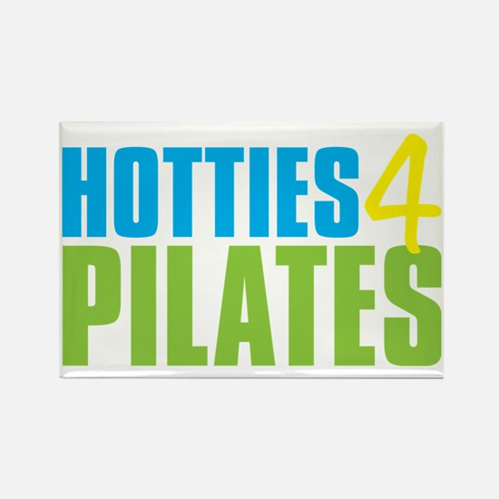 Hotties for Pillates - CyanYellow Rectangle Magnet
