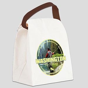 Washington Fly Fishing Canvas Lunch Bag