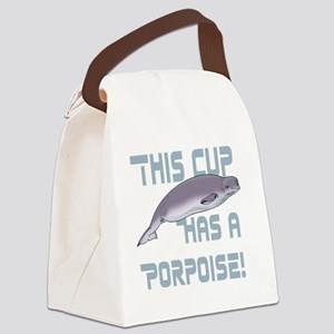 This Cup has a Porpoise Canvas Lunch Bag