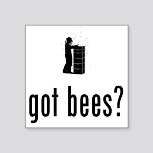 "Beekeeper-02-A Square Sticker 3"" x 3"""