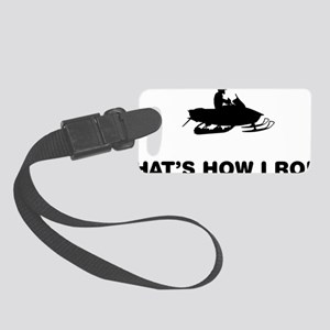 Snowmobile-12-A Small Luggage Tag