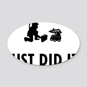 Bomb-Technician-04-A Oval Car Magnet
