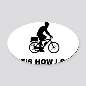 Bicycle-Police-12-A Oval Car Magnet