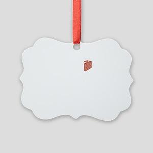 Bricklayer-02-B Picture Ornament