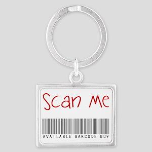 Scan Me Barcode Guy Landscape Keychain