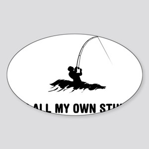 Surf-Fishing-03-A Sticker (Oval)