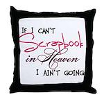Scrapbooking in Heaven Throw Pillow
