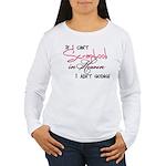 Scrapbooking in Heaven Women's Long Sleeve T-Shirt