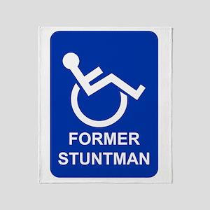 Former Stuntman Throw Blanket