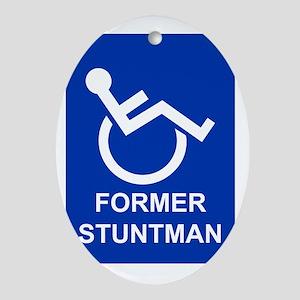 Former Stuntman Oval Ornament