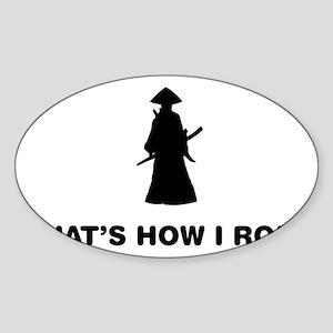 Samurai-12-A Sticker (Oval)