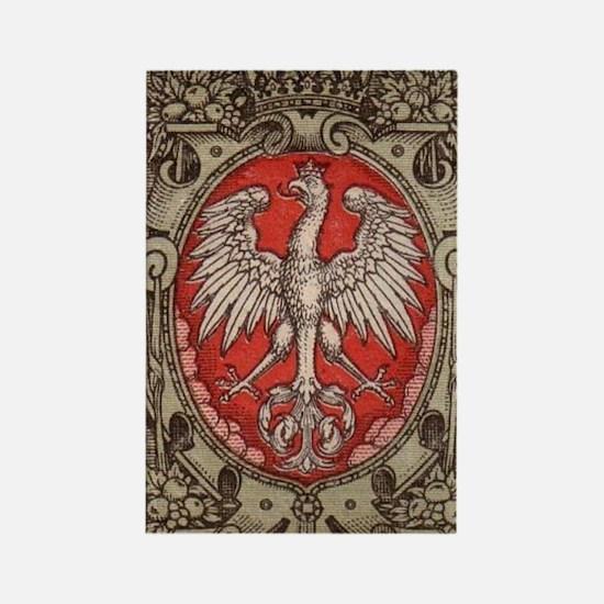 Polish Eagle 1917 1/2 Mark  Rectangle Magnet