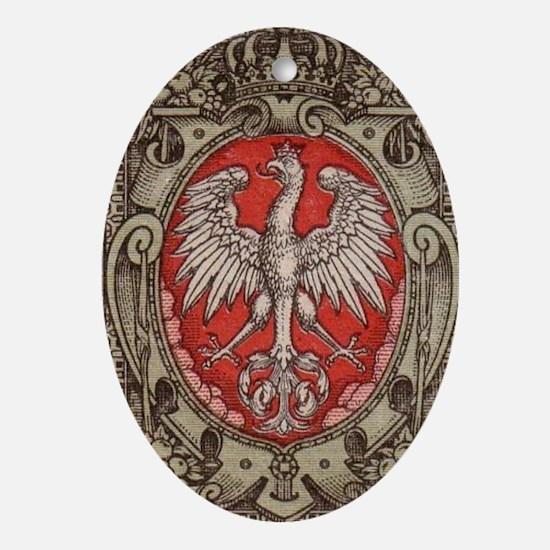 Polish Eagle 1917 1/2 Mark  Oval Ornament