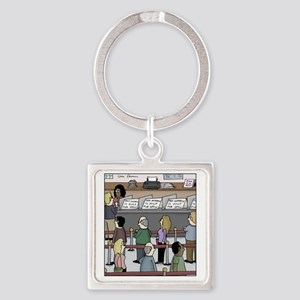 just for show Square Keychain