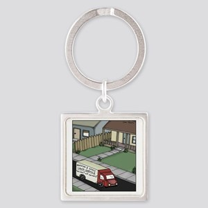 lawn care Square Keychain