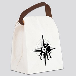 search and rescue badge_black_ill Canvas Lunch Bag