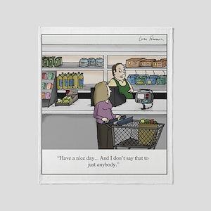 cashier Throw Blanket