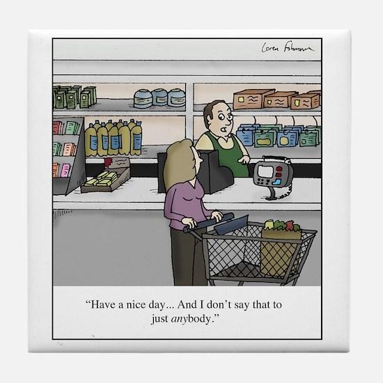 cashier Tile Coaster