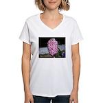 Snow Hyacinth Women's V-Neck T-Shirt