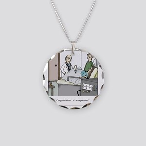 Its a corporation Necklace Circle Charm