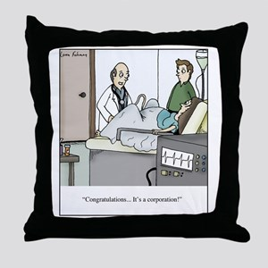 Its a corporation Throw Pillow