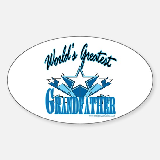 Greatest Grandfather Oval Decal