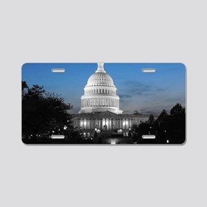 Capitol Hill Blue Aluminum License Plate